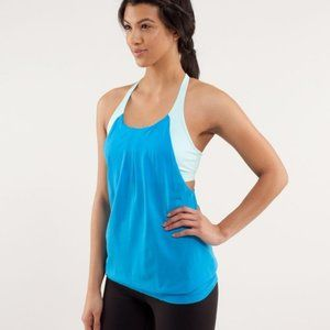 Lululemon Practice Freely Tank Top Blue Size 6